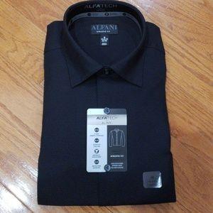 Alfani Athletic Fit Dress Shirt Black M NWT